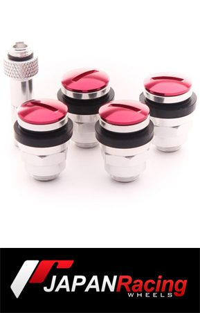 ΑΞΕΣΟΥΑΡ SET OF FLAT ALUMINUM AIR VALVES JR V1 - RED